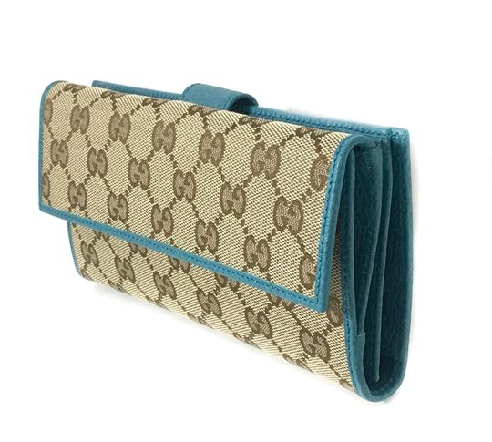 Gucci NEW GUCCI 231841 GG Guccissima Canvas Wallet Image 2