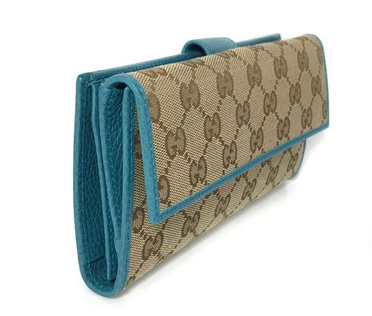 Gucci NEW GUCCI 231841 GG Guccissima Canvas Wallet Image 4