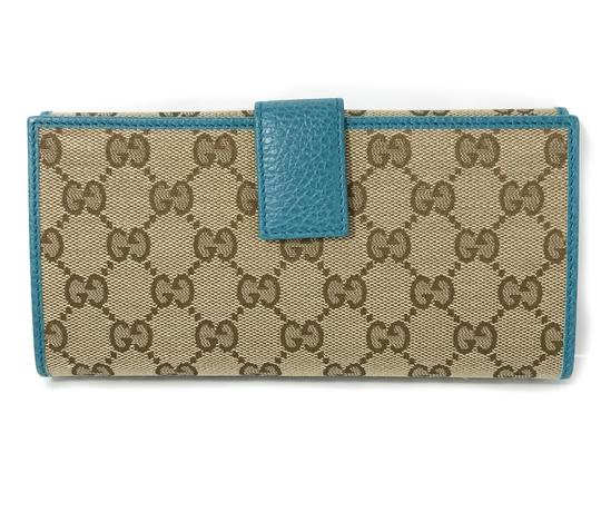 Gucci NEW GUCCI 231841 GG Guccissima Canvas Wallet Image 5