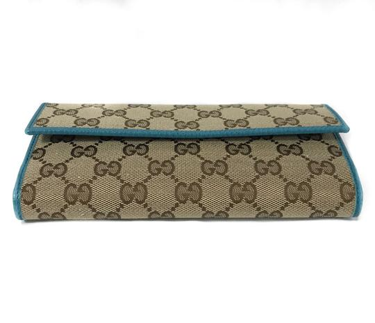 Gucci NEW GUCCI 231841 GG Guccissima Canvas Wallet Image 6