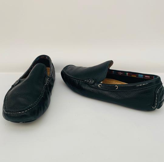 14th & Union Leather Mens Loafers Moccasins BLACK Flats Image 2