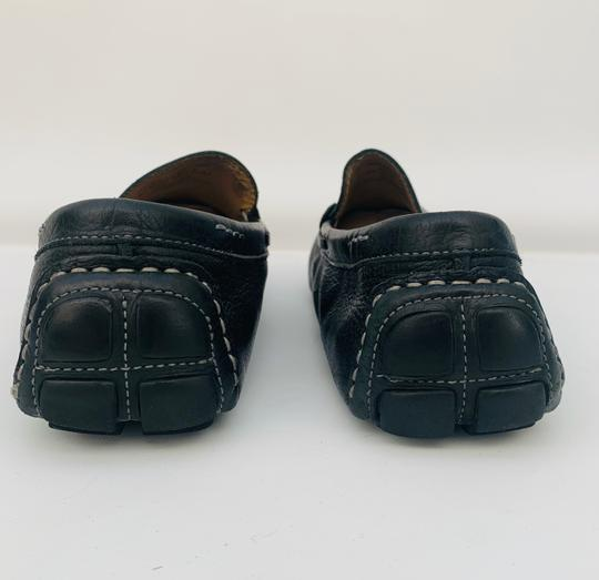 14th & Union Leather Mens Loafers Moccasins BLACK Flats Image 3