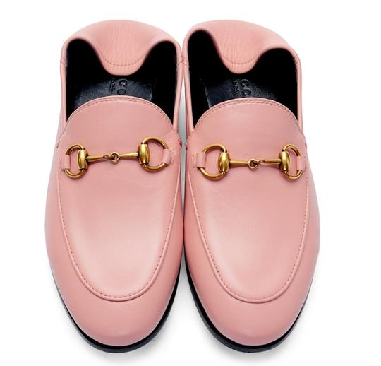 Gucci Slides Loafers Leather Pink Flats Image 1
