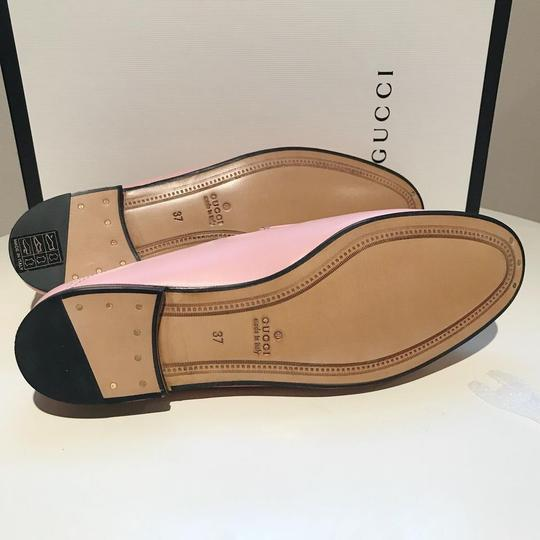 Gucci Slides Loafers Leather Pink Flats Image 10