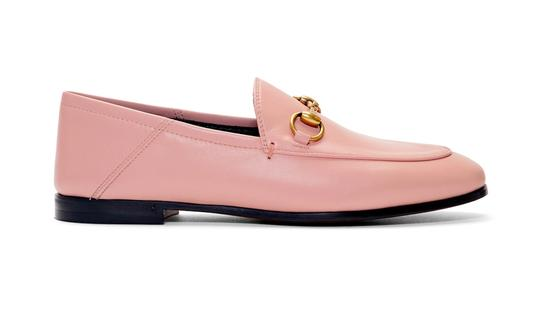 Gucci Slides Loafers Leather Pink Flats Image 2