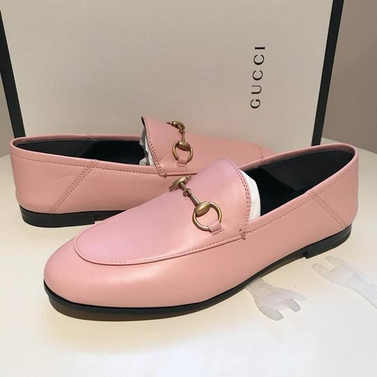 Gucci Slides Loafers Leather Pink Flats Image 5