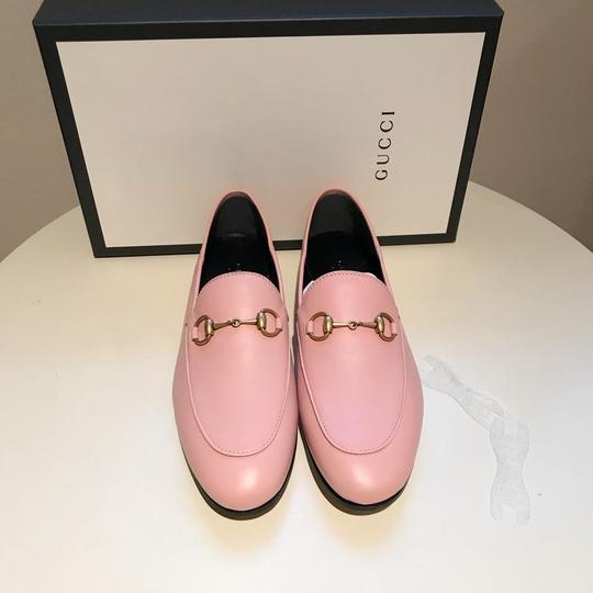 Gucci Slides Loafers Leather Pink Flats Image 7
