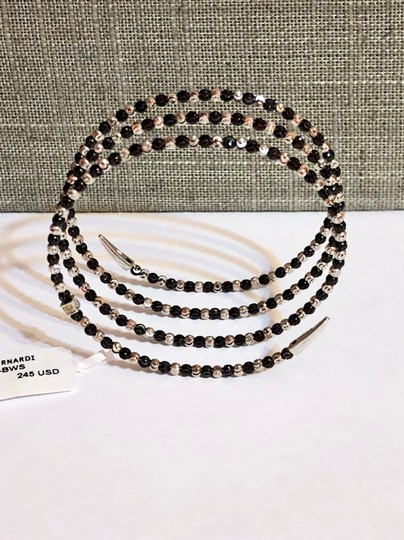 Officina Bernardi NWT Officina Bernardi sterling silver & black Rhodium platinum over sterling silver flexible coil bead bracelet Image 4