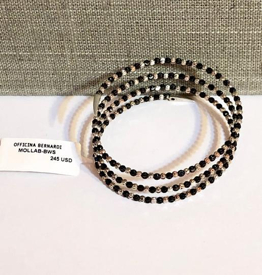 Officina Bernardi NWT Officina Bernardi sterling silver & black Rhodium platinum over sterling silver flexible coil bead bracelet Image 5