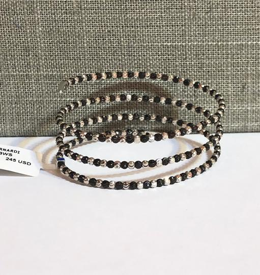 Officina Bernardi NWT Officina Bernardi sterling silver & black Rhodium platinum over sterling silver flexible coil bead bracelet Image 6