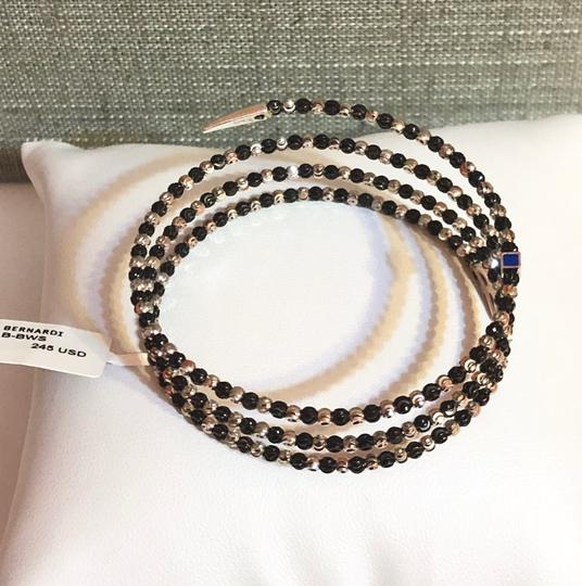 Officina Bernardi NWT Officina Bernardi sterling silver & black Rhodium platinum over sterling silver flexible coil bead bracelet Image 7