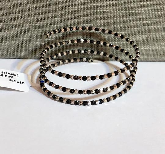 Officina Bernardi NWT Officina Bernardi sterling silver & black Rhodium platinum over sterling silver flexible coil bead bracelet Image 8