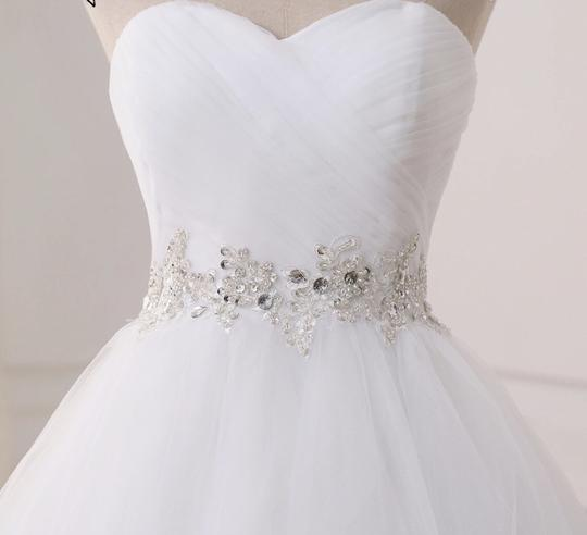White Or Ivory Sweetheart Gowns 2-26w Standard Or Plus Formal Wedding Dress Size OS (one size) Image 1