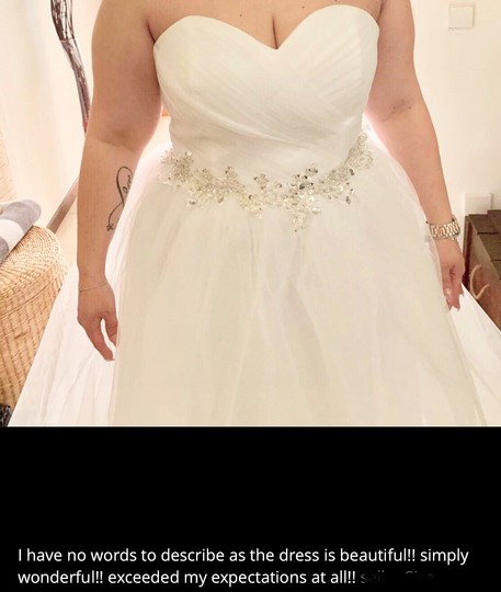 White Or Ivory Sweetheart Gowns 2-26w Standard Or Plus Formal Wedding Dress Size OS (one size) Image 6
