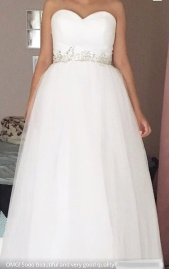 White Or Ivory Sweetheart Gowns 2-26w Standard Or Plus Formal Wedding Dress Size OS (one size) Image 7