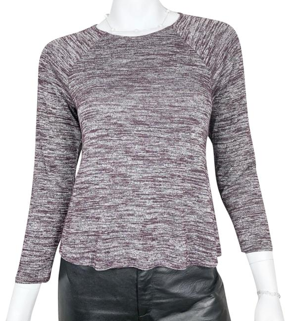 Preload https://img-static.tradesy.com/item/25815635/wilfred-purple-and-white-34-sleeve-crew-neck-blouse-size-4-s-0-1-650-650.jpg