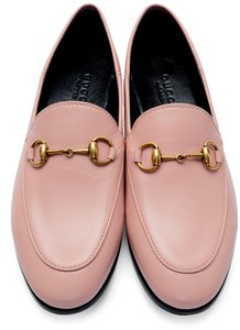Gucci Slides Loafers Leather Pink Flats