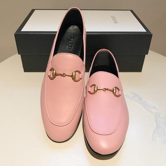 Gucci Slides Loafers Leather Pink Flats Image 8