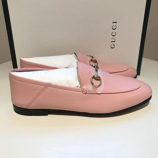 Gucci Slides Loafers Leather Pink Flats Image 9
