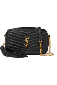 Saint Laurent Monogram Envelope Leather Shoulder Bag