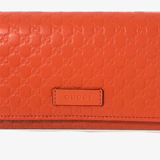 Gucci NEW GUCCI 449396 Leather Microguccissima Continental Wallet Image 1