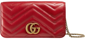 Gucci Marmont Mini Chain Cross Body Bag