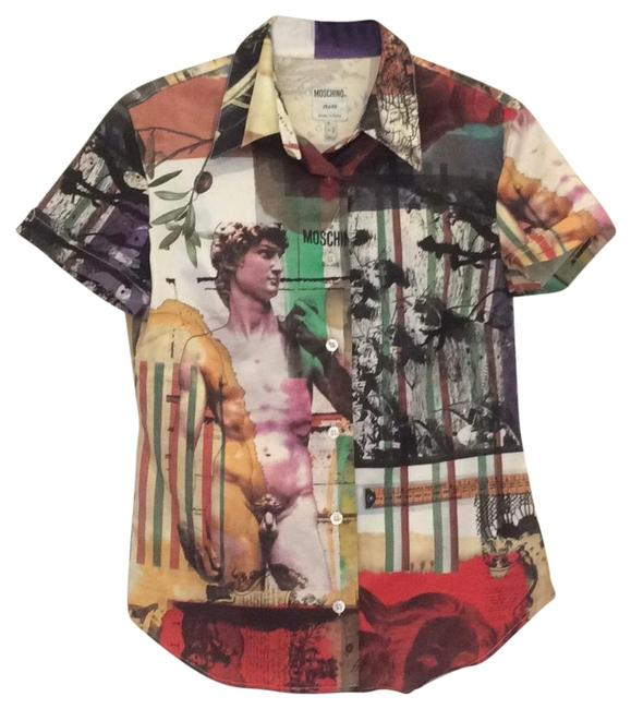 Item - Gallery Print David Button-down Top Size 4 (S)