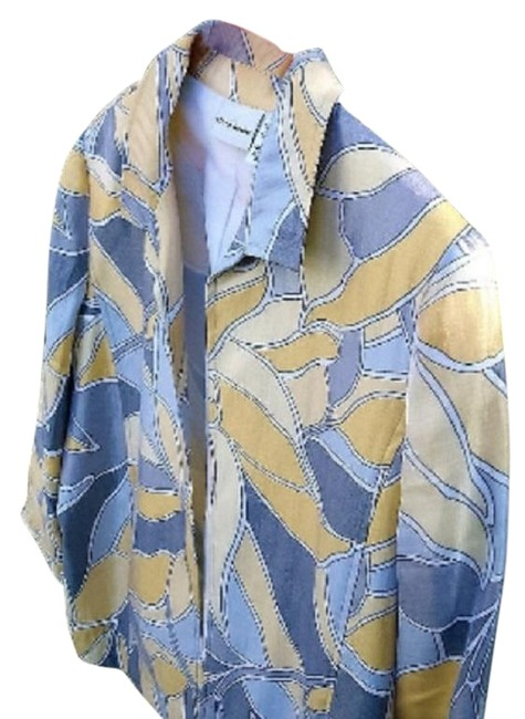 Preload https://img-static.tradesy.com/item/25815857/alfred-dunner-gray-and-yellow-pretty-jacket-cardigan-size-14-l-0-1-650-650.jpg