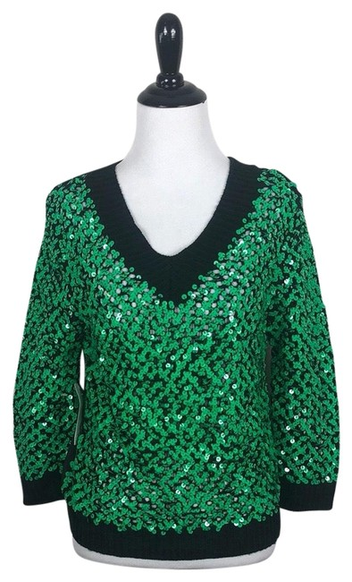 Preload https://img-static.tradesy.com/item/25815860/endless-rose-sequin-knit-green-and-black-sweater-0-1-650-650.jpg