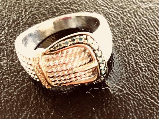 None Blue and white diamond buckle ring Image 1