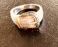 None Blue and white diamond buckle ring Image 3