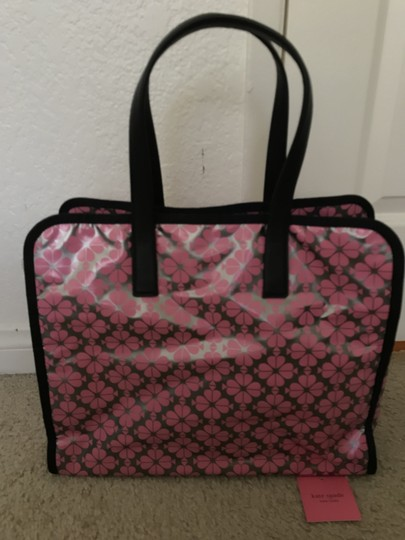 Kate Spade Xl Leather Tote in Silver/ Pink/ Black Image 1