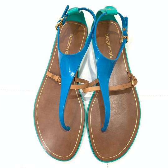 Sergio Rossi Green/Brown/Blue Sandals Image 1