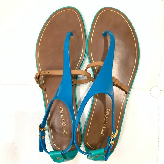 Sergio Rossi Green/Brown/Blue Sandals Image 2