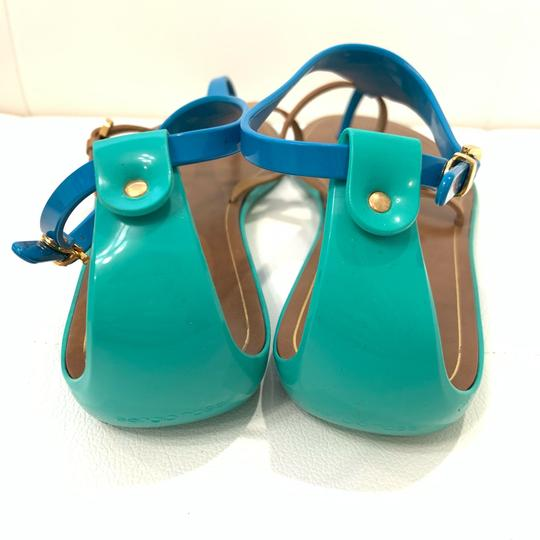 Sergio Rossi Green/Brown/Blue Sandals Image 3