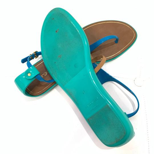 Sergio Rossi Green/Brown/Blue Sandals Image 4