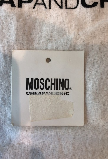 Moschino Satchel in Light green with pink polka dots Image 7