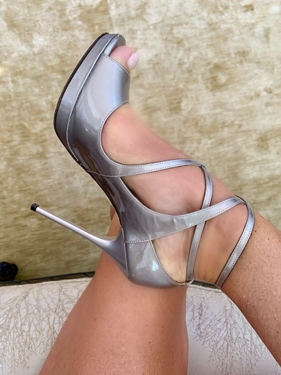 Jimmy Choo metallic taupe Pumps Image 2