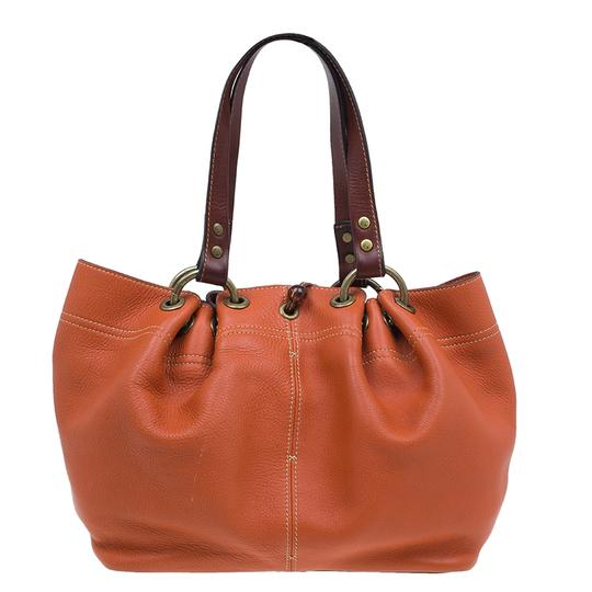 Mulberry Leather Suede Tote in Orange Image 1