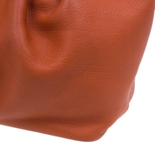 Mulberry Leather Suede Tote in Orange Image 10