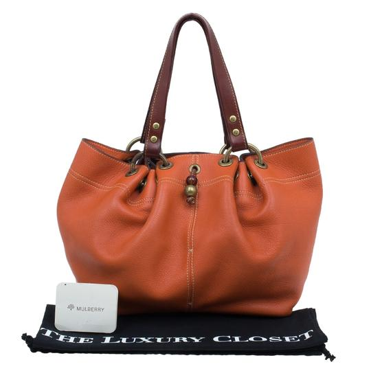 Mulberry Leather Suede Tote in Orange Image 11