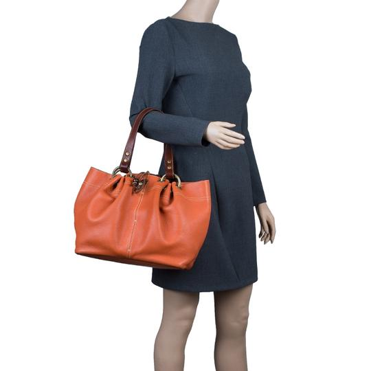 Mulberry Leather Suede Tote in Orange Image 2