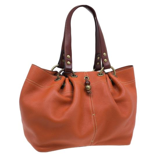 Mulberry Leather Suede Tote in Orange Image 3
