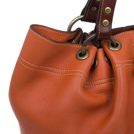 Mulberry Leather Suede Tote in Orange Image 5