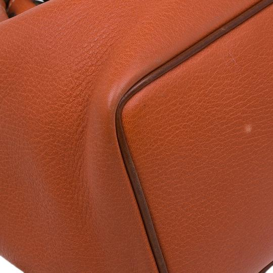 Mulberry Leather Suede Tote in Orange Image 6