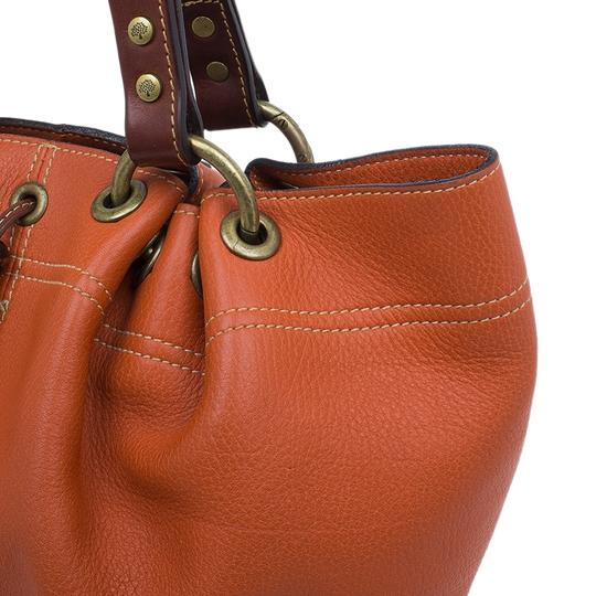 Mulberry Leather Suede Tote in Orange Image 7