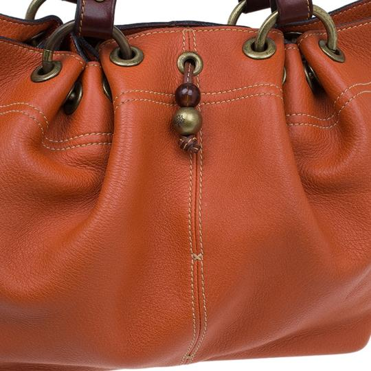 Mulberry Leather Suede Tote in Orange Image 8