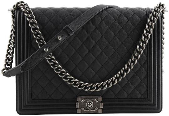 Preload https://img-static.tradesy.com/item/25816193/chanel-handbag-boy-quilted-large-black-lambskin-leather-shoulder-bag-0-1-540-540.jpg