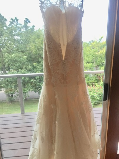 Maggie Sottero Ivory/Nude Couture (5mb657) Vintage Wedding Dress Size 8 (M) Image 3