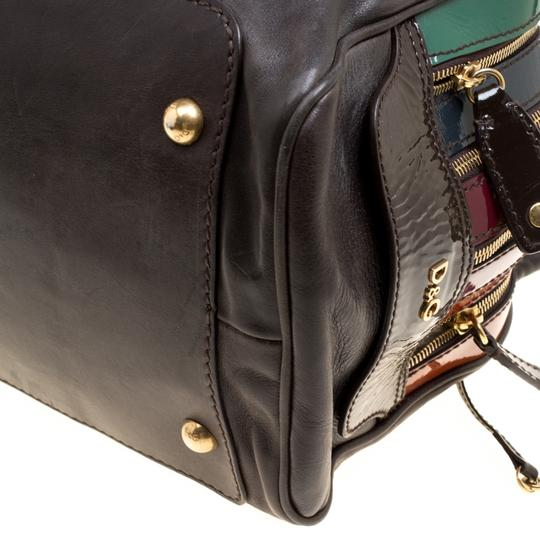 Dolce&Gabbana Leather Satchel in Multicolor Image 8